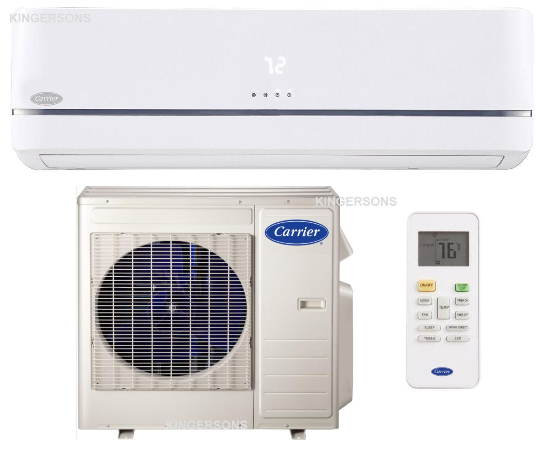 carrier ductless split ac heat pump performance series 12000 btu seer 21 5 air conditioner system. Black Bedroom Furniture Sets. Home Design Ideas