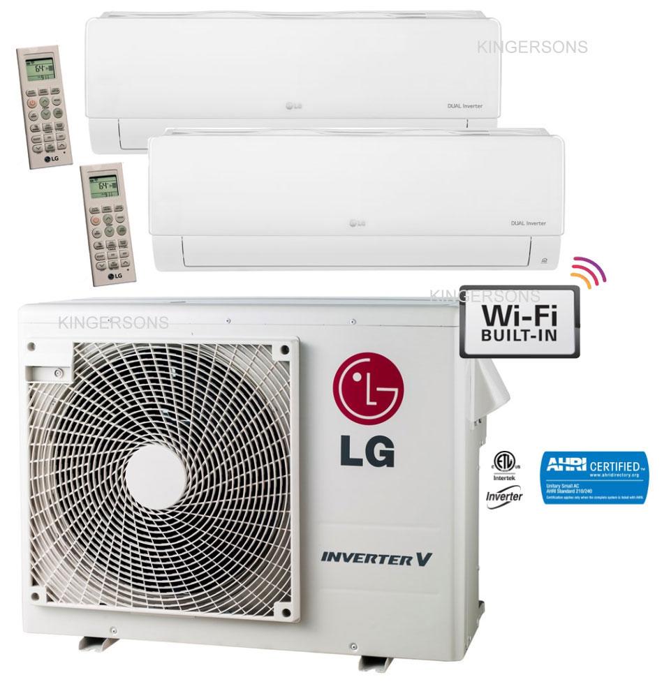 Lg Dual Zone Ductless Split Ac Heat Pump Seer 21 Lmu360hhv