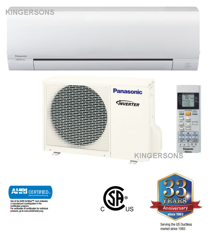 Panasonic Re24skua 18000 Btu Ductless Mini Split Seer Of