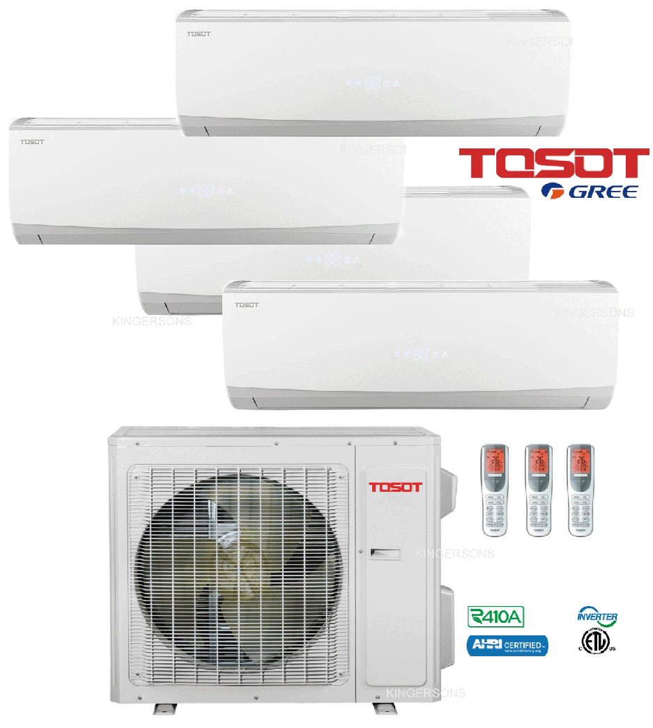 Tosot Quad Zone Split Air Conditioner 30000 Btu With 4 X