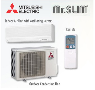 mitsubishi mszfe18na muzfe18na hyper heat ductless split air conditioner air conditioner system. Black Bedroom Furniture Sets. Home Design Ideas