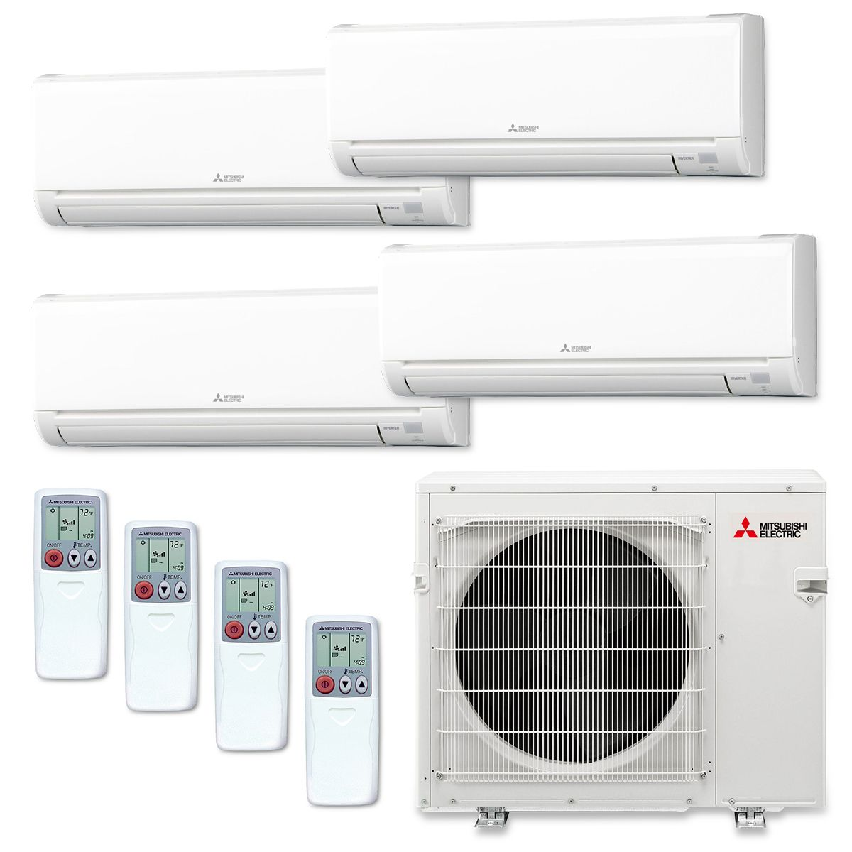 zuba ductless central slim mr mitsubishi toronto city multi products split systems system