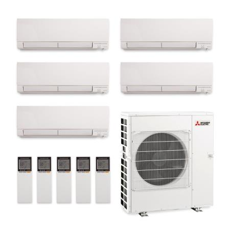 mitsubishi five zone mxz5c42na mszgl06na x two mszgl12naa x twomszgl15na ductless split air. Black Bedroom Furniture Sets. Home Design Ideas