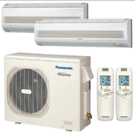 Cu4ke24nbu csmke18nku two panasonic 35000 btu heat pump for In wall heating system